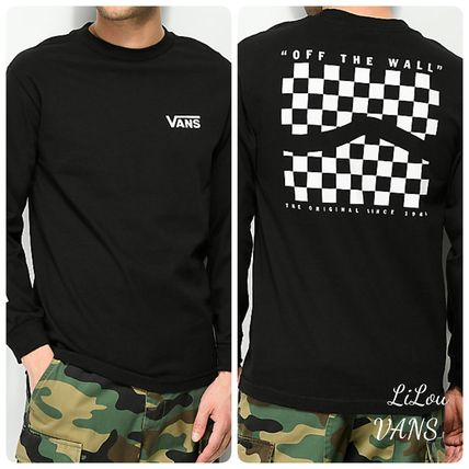 fc8634fcfa34aa VANS Tシャツ・カットソー VANSバンズ☆Checker Side Stripe Black Long SleeveロンT ...