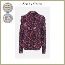 2018-19AW See by Chloe floral print crepe shirt