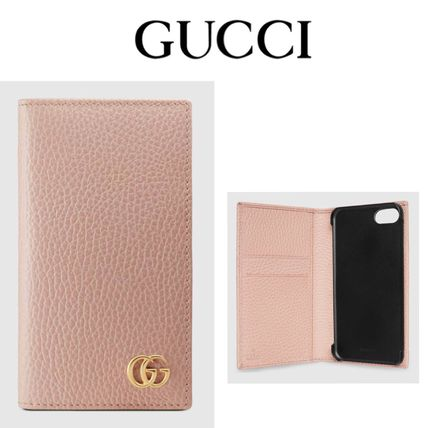 GUCCI スマホケース・テックアクセサリー 追跡有り配送!GUCCI(グッチ) GG Marmont iPhone7/8 wallet case