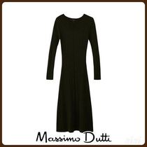MassimoDutti♪TEXTURED RIBBED WOOL DRESS