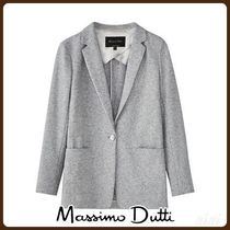 MassimoDutti♪SLIM FIT HEATHERED WOOL BLAZER