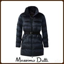 MassimoDutti♪QUILTED JACKET WITH BELT