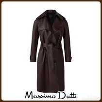 MassimoDutti♪NAPPA TRENCH COAT WITH BELT