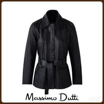 MassimoDutti♪NAPPA JACKET WITH BELT