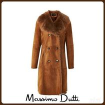 MassimoDutti♪DOUBLE-FACED LEATHER COAT WITH TUSCAN DETAIL