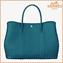 HERMES《Garden Party 36》トートバッグ ブルーイズミール