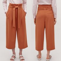 """""""COS"""" BELTED HIGH-WAIST TROUSERS RUST"""