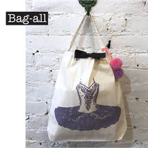 NY発★Bag-all★インスタ映え! PURPLE BALLERINA DRESS プリント