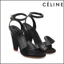 CELINE(セリーヌ)★Leather and Velvet Sandals