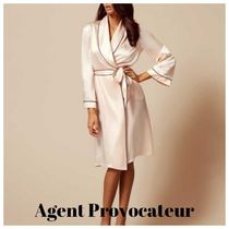 Agent Provocateur(エージェントプロヴォケイター ) ルームウェア・パジャマ Agent Provocateur★シルク ピンク ガウン★ナイトウェア