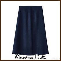 MassimoDutti♪BOILED WOOL SKIRT WITH FRONT PLEAT