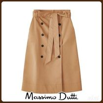 MassimoDutti♪DOUBLE BUTTON FRONT SKIRT