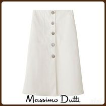 MassimoDutti♪COTTON SKIRT WITH BUTTONS