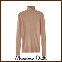 MassimoDutti♪RIBBED WOOL/SILK SWEATER