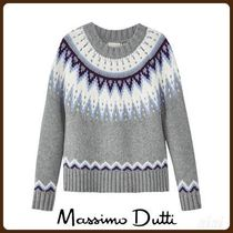 MassimoDutti♪LIMITED EDITION WOOL/CASHMERE JACQUARD SWEATER