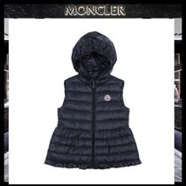 【MONCLER】18AW CHERAMETTEフリルダウンベスト4A6A NVY/追跡付