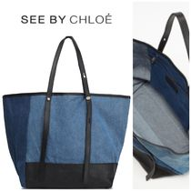 ★SALE★See by Chloe ツートンデニム トートバッグ