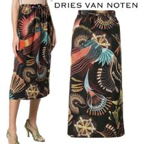 【18AW】★Dries Van Noten★printed midi skirt