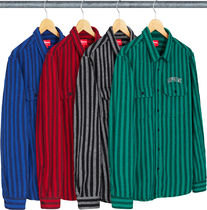 【WEEK6】AW18 Supreme STRIPE HEAVYWEIGHT FLANNEL SHIRT/S