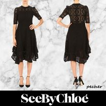 【See by Chloe】crochet dress