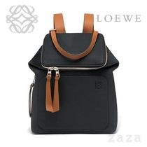 LOEWE★ロエベ Goya Small Backpack Black/Pecan Color