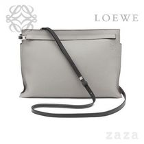 LOEWE★ロエベ T Pouch Bag Smoke Grey/Anthracite