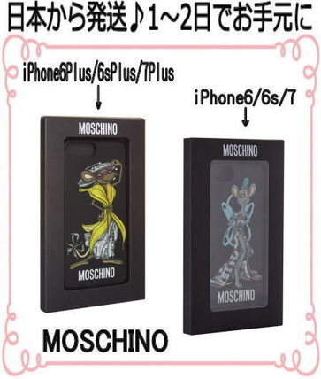 Moschino iPhone・スマホケース 国内発★Moschino Rat-A-Porter iPhone6.6s.7 6.6s.7plusケース