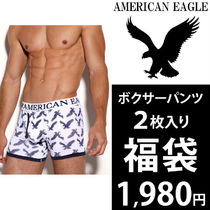 American Eagle Outfitters(アメリカンイーグル) ボクサーパンツ 【即発】アメリカンイーグル ボクサーパンツ 2枚セット 福袋