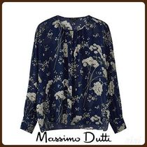 MassimoDutti♪FLORAL PRINT BLOUSE WITH BUTTONS