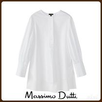 MassimoDutti♪COTTON SHIRT WITH PUFF DETAIL