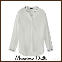 MassimoDutti♪COMBINED T-SHIRT WITH CONTRAST PIPED SEAMS