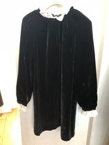 18AW【Bonpoint Paris】Joie ベロアドレス 34~42 (noir)