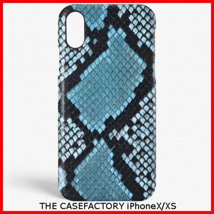 THE CASE FACTORY スマホケース・テックアクセサリー 関税送料込☆THE CASEFACTORY☆IPHONE X/XS PYTHON AZZURRO