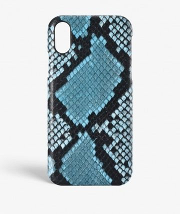 THE CASE FACTORY スマホケース・テックアクセサリー 関税送料込☆THE CASEFACTORY☆IPHONE X/XS PYTHON AZZURRO(2)