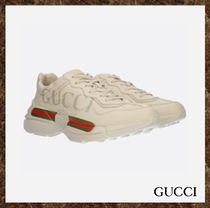 GUCCI(グッチ)★Rhyton Gucci logo leather sneakers★送料込み
