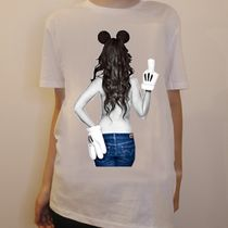 JAPAN LIMITEDモデル★NO COMMENT PARIS★imprime Mickey mouse