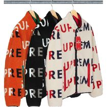 6 WEEK Supreme FW 18 Reversible Logo Fleece Jacket