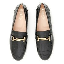 TOD'S(トッズ) ローファー・オックスフォード TOD'S Double T Loafers クロコ エンボスレザー