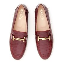 TOD'S Double T Loafers クロコ エンボスレザー