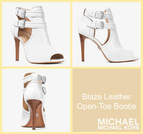 [セール]マイケルコース☆Blaze Leather Open-Toe Bootie