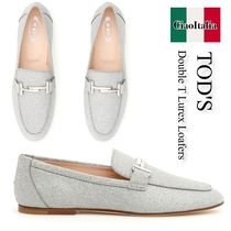 TOD'S Double T Lurex Loafers