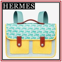 【HERMES】Animaux Pixel・スクールバッグ・コットン