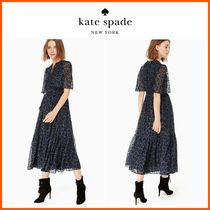 18-19AW!!☆kate spade☆leopard-print clip dot midi dress