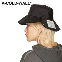 A-COLD-WALL(アコールドウォール) 帽子・その他 ★A-COLD-WALL★ ブラック バケット ハット ★関税 送料込★