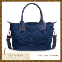 TED BAKER(テッドベーカー) トートバッグ セール★ TED BAKER★ ナイロントートバッグ NAVY / small