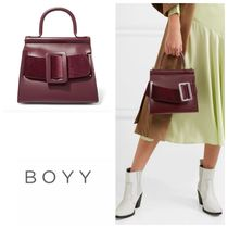 BOYY(ボーイ) トートバッグ 国内発送 BOYY Karl 24 buckled leather and velvet tote