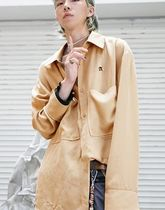 ANOTHERYOUTH(アナザーユース) シャツ ANOTHERYOUTH lettering over shirts beige