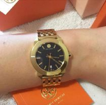 ★短期セール☆TORY BURCH Whitney Navy Dial Gold-Tone Watch