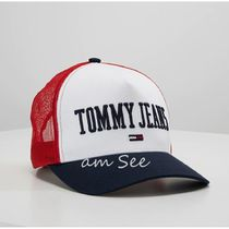 【2018-19AW】欧州限定  TOMMY JEANS ロゴ UNISEX TRUCKERキャプ