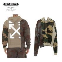 【送関込】 Off White RECONSTRUCTURED CAMO パーカー